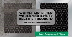 Dirty Air Filter Next to Clean Air Filter